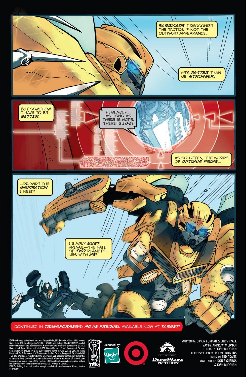 transformers target comic interlude page 10 1267760180 Free Comic Book Day Canada 2008   May 3rd. Thanks Jellybean for suggesting ...