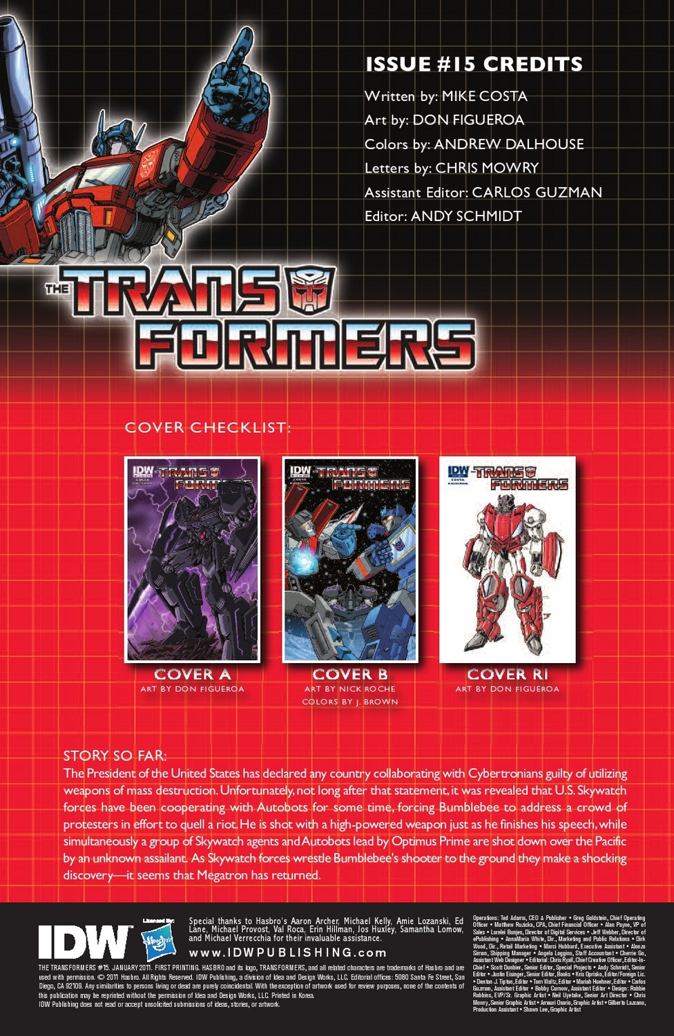 Transformers Ongoing #15